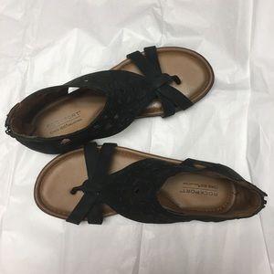 Rockport brand Zip back black sandals